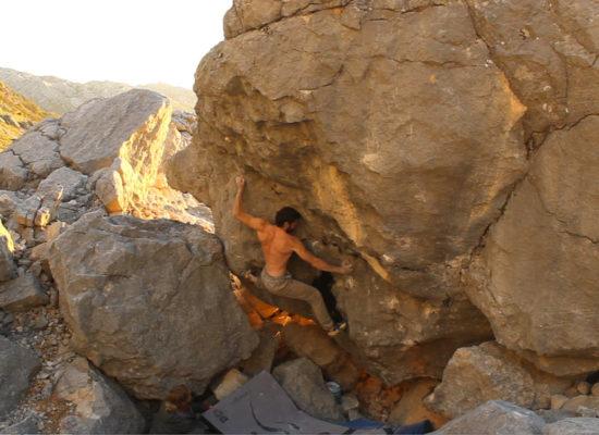 Guide Tobi bouldering
